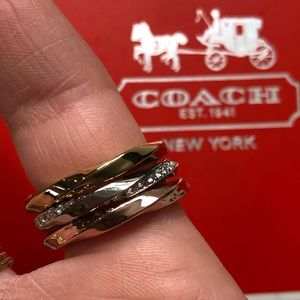 Coach rings size 8